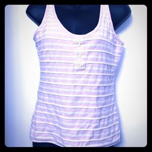 Anthropologie Eloise striped blush tank size M